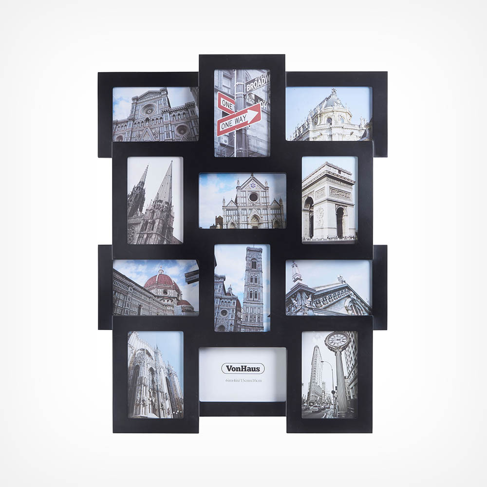 12 Photo Frame - Black
