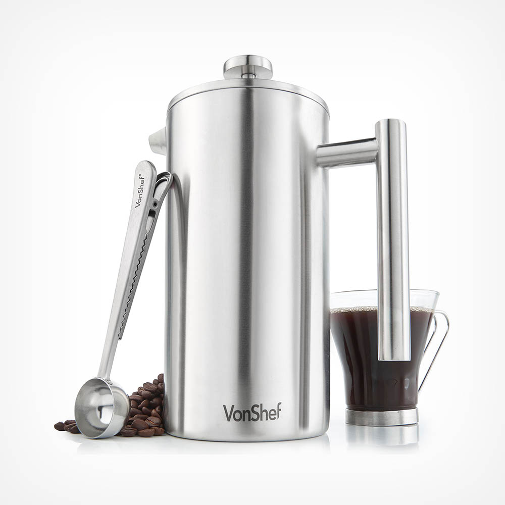 12 Cup Cafetiere with Spoon