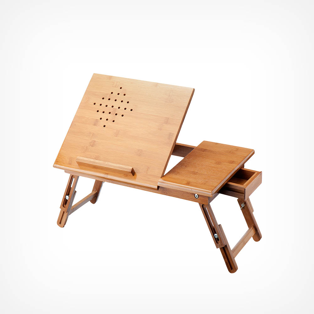 Bamboo Tablet & Laptop Table