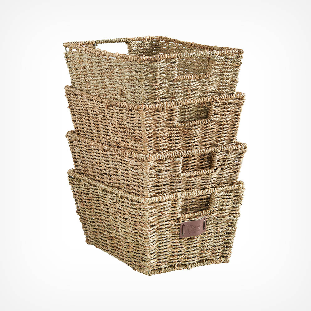 Set of 4 Seagrass Baskets