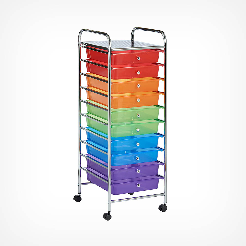 10 Drawer Trolley - Multi Colour