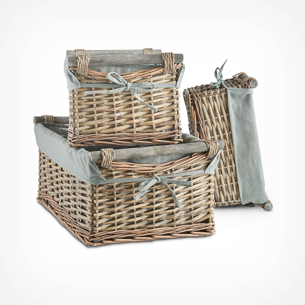 Set of 3 Willow Baskets