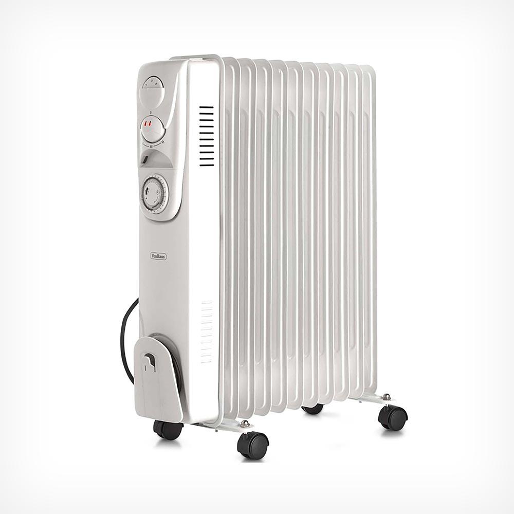 11 Fin 2500W Oil Filled Radiator - White