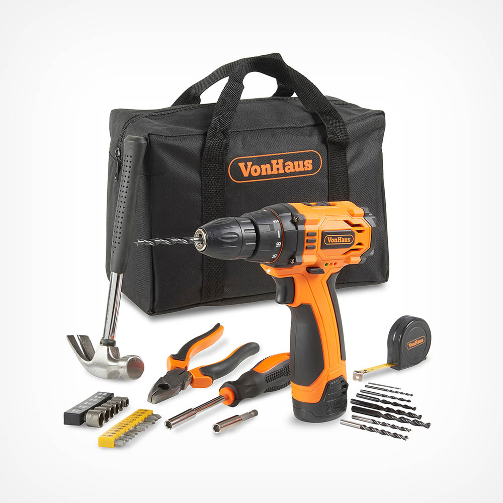 12V Drill with Accessory Set