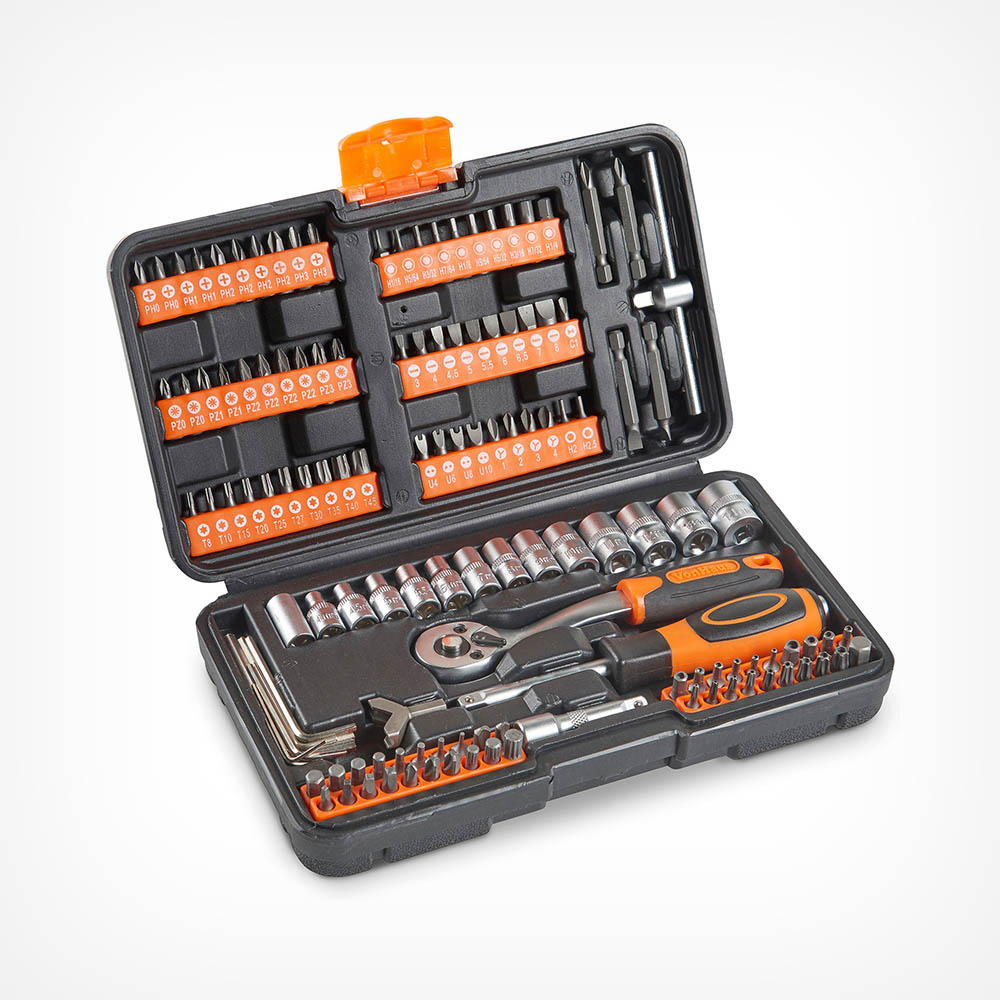 130pc Socket + Bit Set