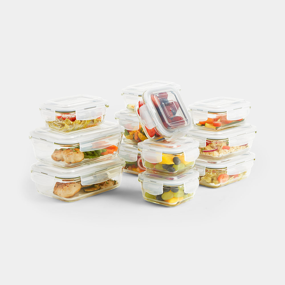 12pc Glass Container Storage Set