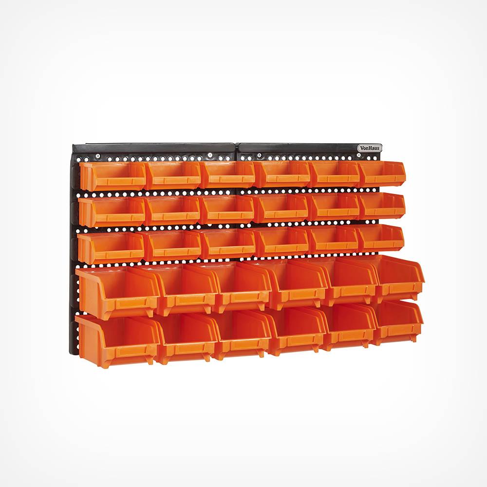 30pc Storage Bin Organiser