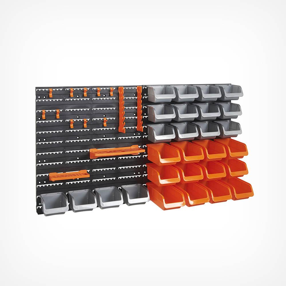 44pc Storage Bin & Hook Set