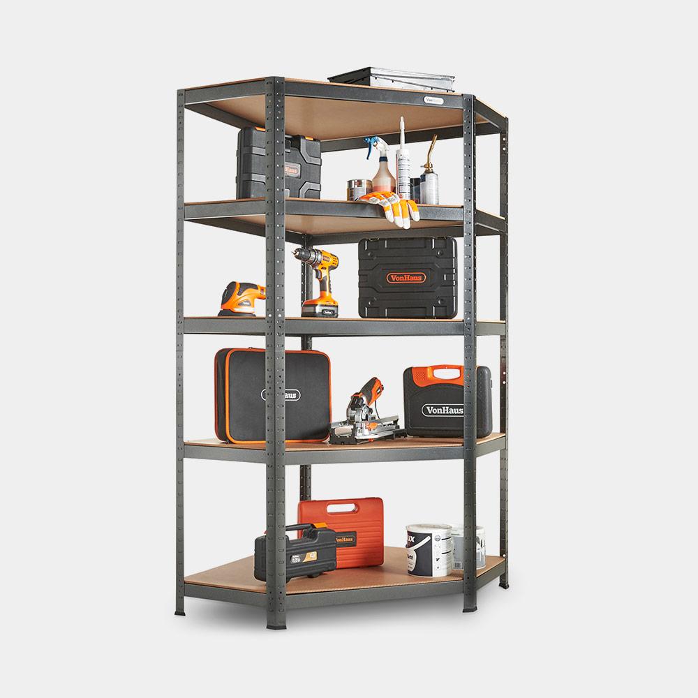 5 Tier Corner Heavy Duty Racking Shelf Vonhaus