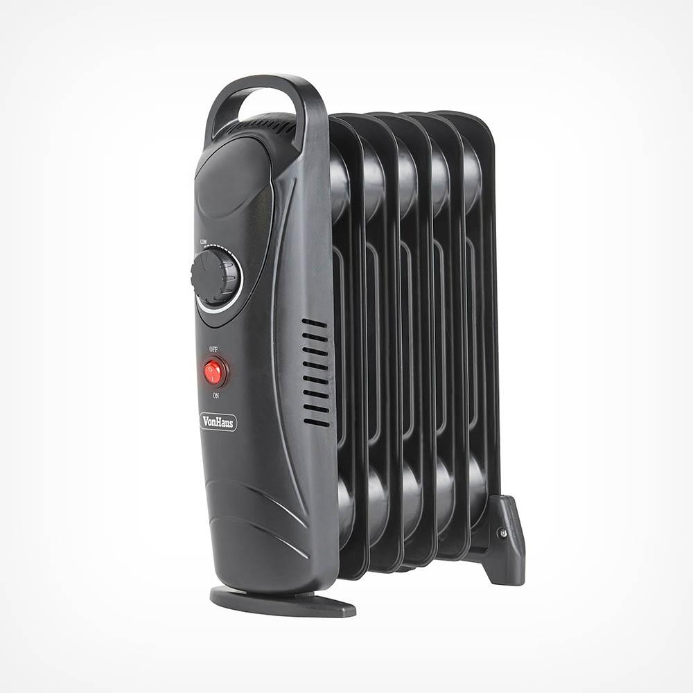 6 Fin 800W Oil Filled Radiator - Black