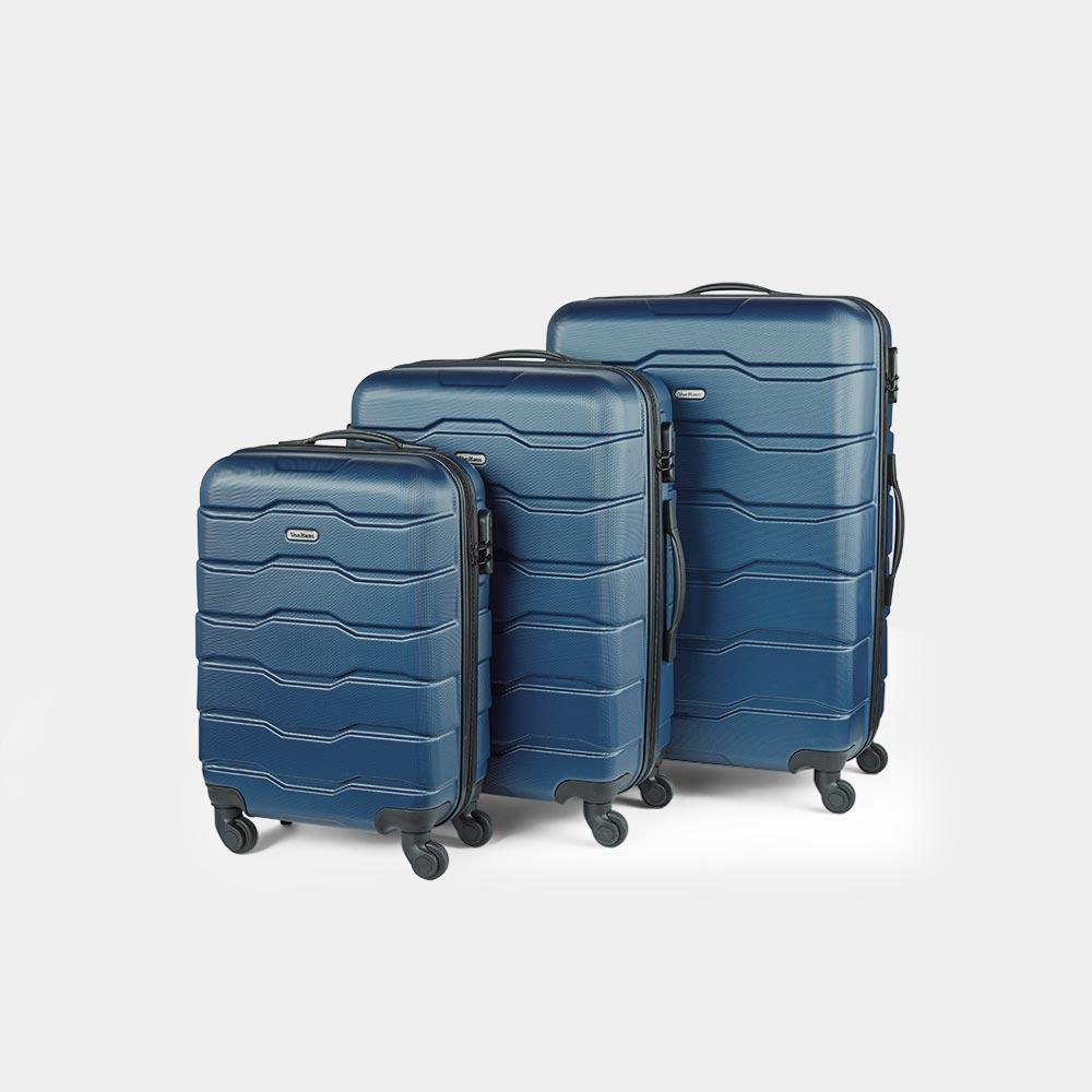 3pc Navy Luggage Set