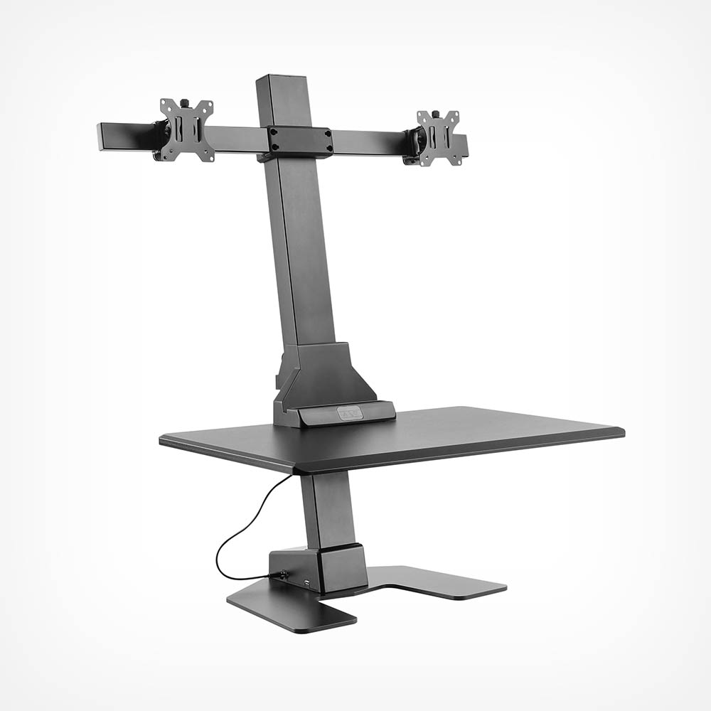 Electric Double Monitor Riser