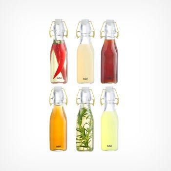 250ml Glass Clip Top Bottles