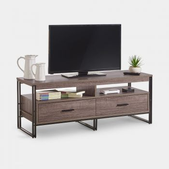 Rustic TV Unit With 2 Drawers