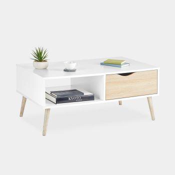White & Oak Coffee Table