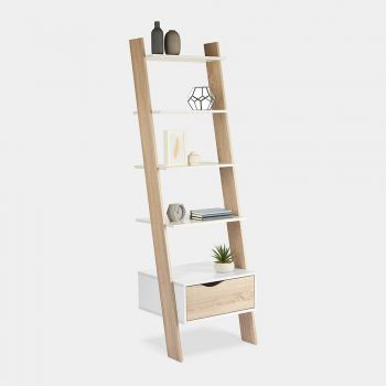 White & Oak Bookcase