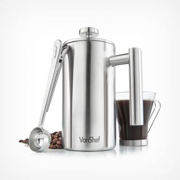 6 Cup Cafetiere with Spoon