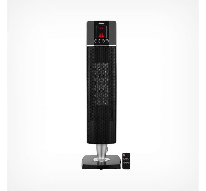 Ceramic PTC 2000W 2 Power Settings Climatik Oscillating Black Tower Fan Heater LED Display Portable Design with Timer /& Remote Control Thermostat