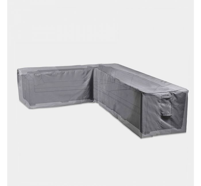 L Shaped Sofa Cover Grey Vonhaus