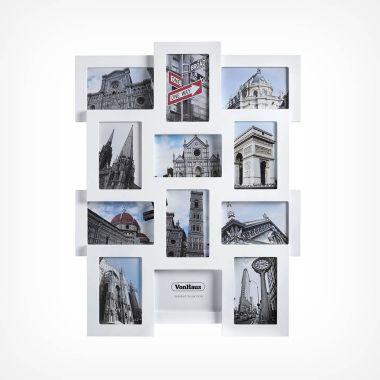 12 Photo Frame - White