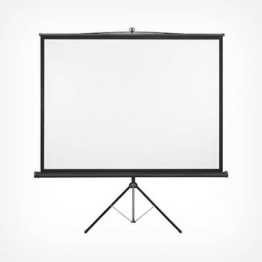 "86"" Tripod Projector Screen"