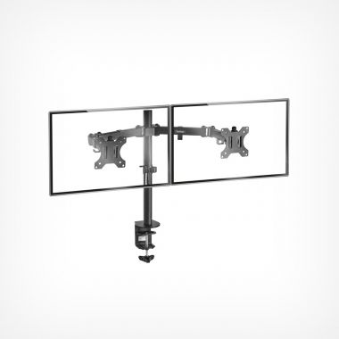 Dual Arm Desk Mount with Clamp