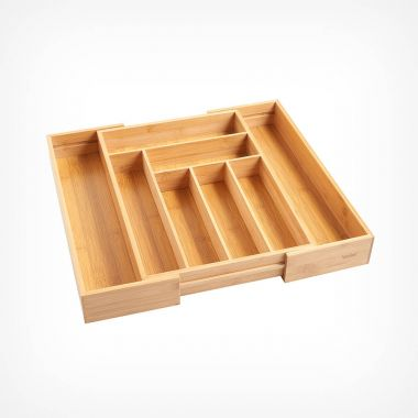 Extendable Bamboo Cutlery Tray