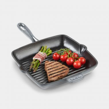 Grey Cast Iron Griddle Pan