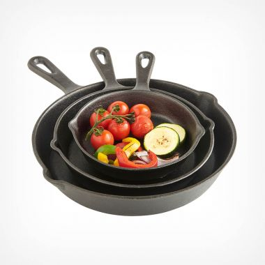 3pc Cast Iron Skillet Set