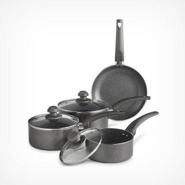4pc Marbled Pan Set