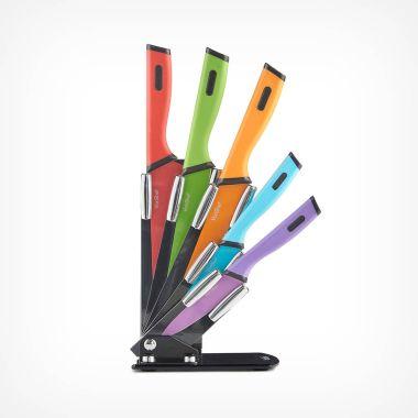5pc Multi-Coloured Knife Set