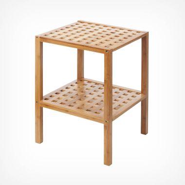 2-Tier Bamboo Lattice Shelves