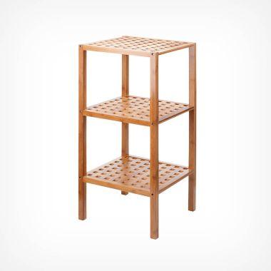 3-Tier Bamboo Lattice Shelves