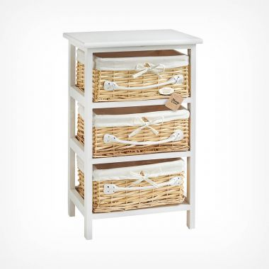 3 Drawer Wicker Storage Unit