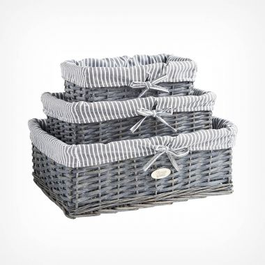 Wicker Basket Set of 3