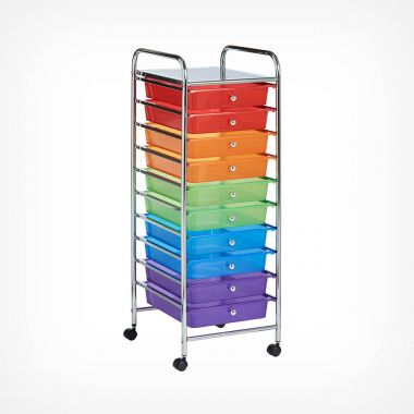 10 Drawer Trolley - Multi Colour