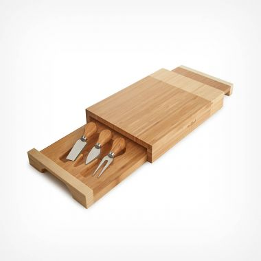 3 Layer Cheese Board With Knives