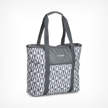 22L Grey Geo Tote Bag