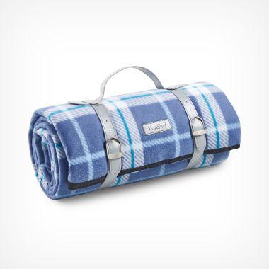 Navy Tartan Picnic Blanket