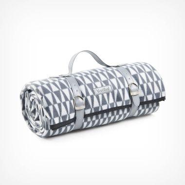 Grey Geo Picnic Blanket