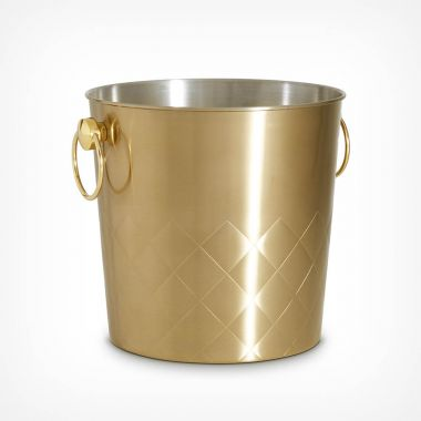 Brushed Gold Ice Bucket