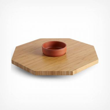 Bamboo Lazy Susan & Bowl Set