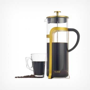 1.5L Glass Cafetiere with Gold Finish