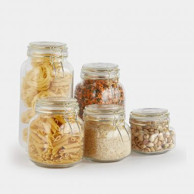 Set of 5 Glass Storage Jars