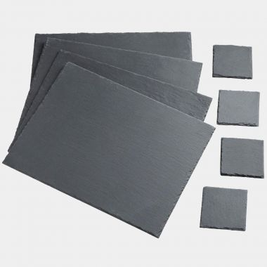 8 Piece Slate Placemat & Coaster Set