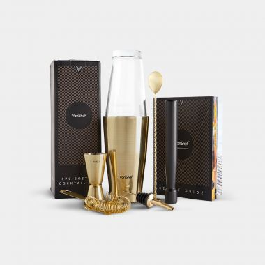 Brushed Gold Boston Cocktail Set