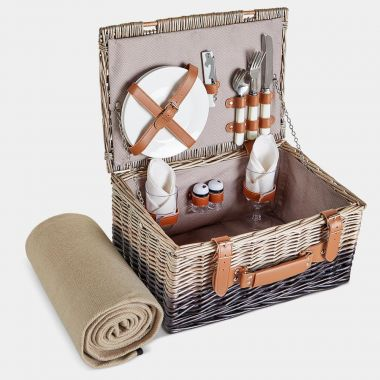 2 Person Herringbone Picnic Hamper