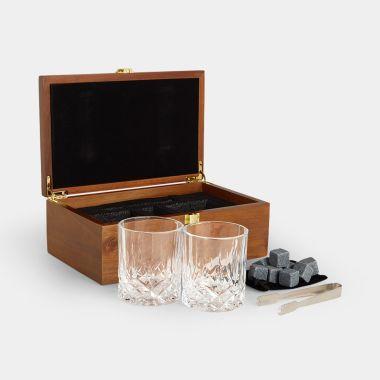 Whisky Glasses & Stones Gift Set