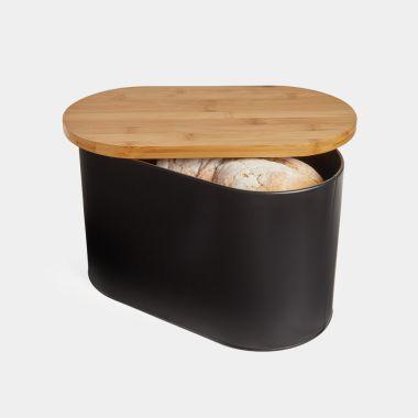 Matte Black Bread Bin