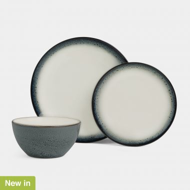 12pc Reactive Glaze Dinner Set